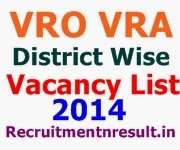 AP VRO VRA District Wise 2014 Vacancy list