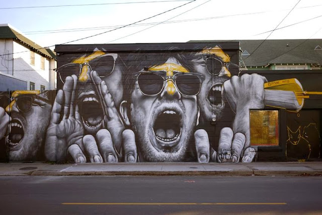 """Gasa-Gasa In Nola"" New Mural By MTO on the streets of New Orleans in Louisiana. 2"
