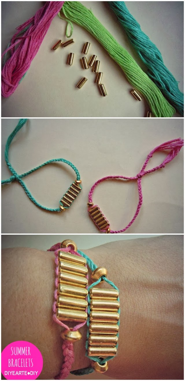 summer-friend-bracelet-diy-thread-diyearte-handmade-pulsera-hilo-verano-jewelry-homemade