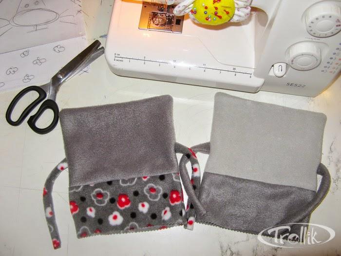 процесс пошива котов мягких игрушек из флиса