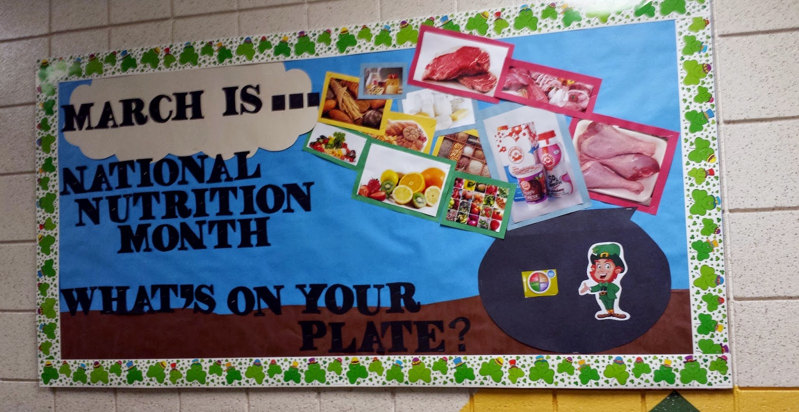Classroom Bulletin Board Ideas Nutrition Month : Reading with mrs d more bulletin boards around school