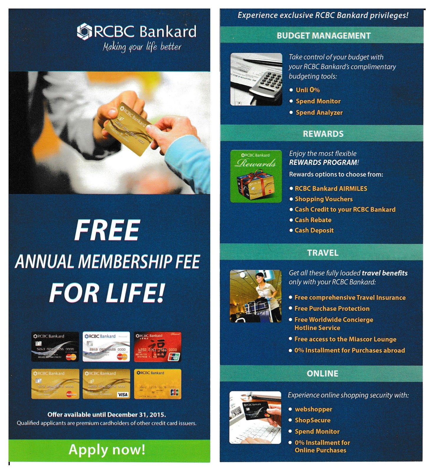rcbc bankard free annual membership fee for life step by step application instructions. Black Bedroom Furniture Sets. Home Design Ideas