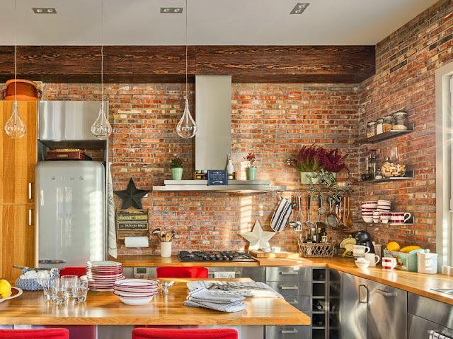 parede de tijolo à vista, parede de tijolo aparente, blog de decoração, blog achados de decoração