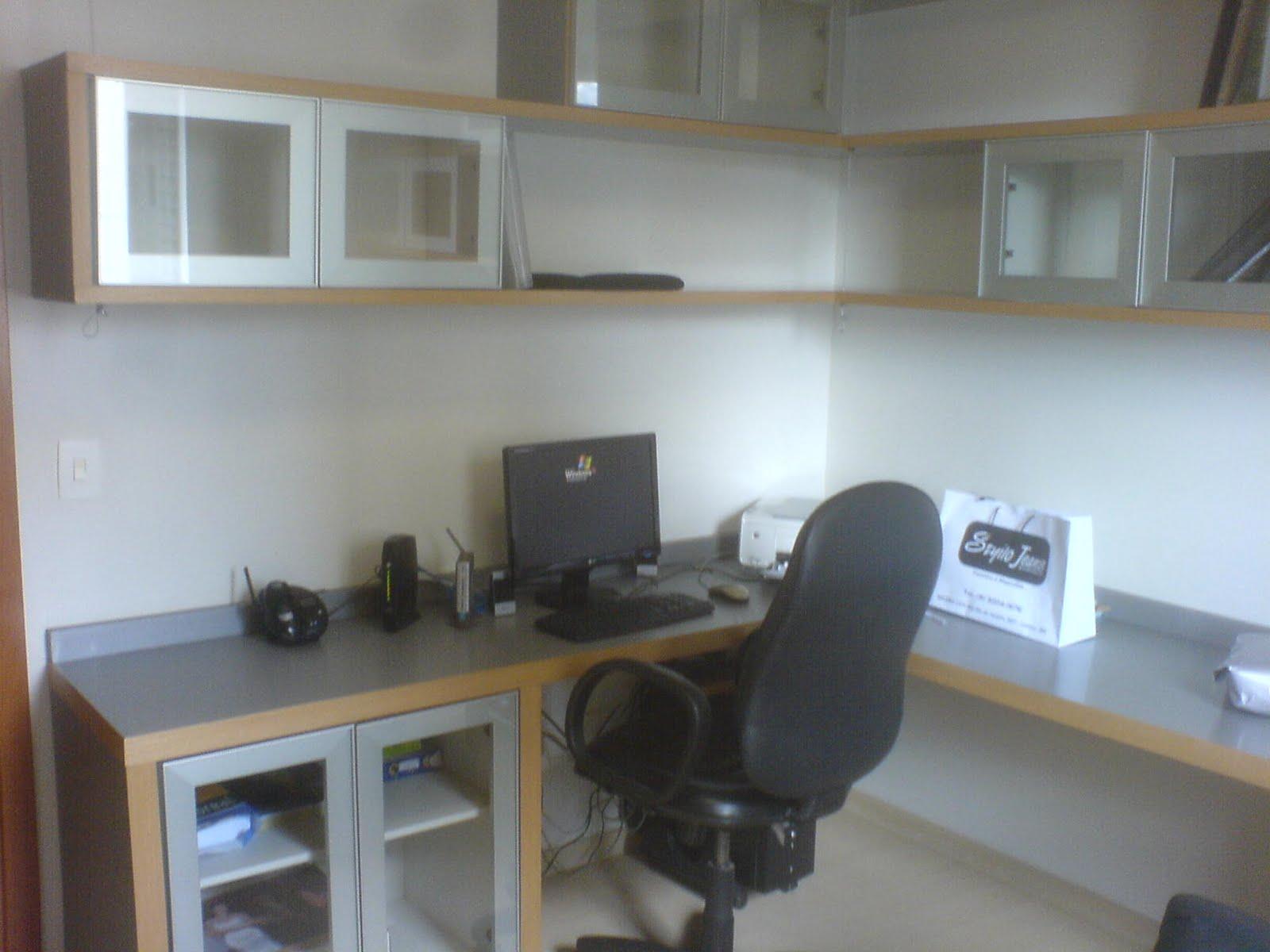 BANCADA QUARTO PARA PC EM MDF CINZA . #4D6A7E 1600x1200