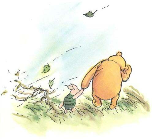 old fashioned winnie the pooh and piglet