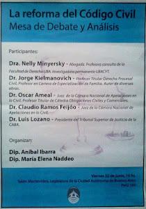 22 de junio 16 hs. Perú 160 Debatimos la reforma del Código Civil