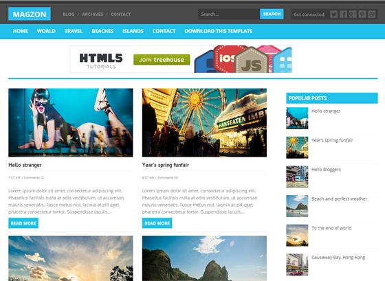 maggzon Top best premium blogger templates free