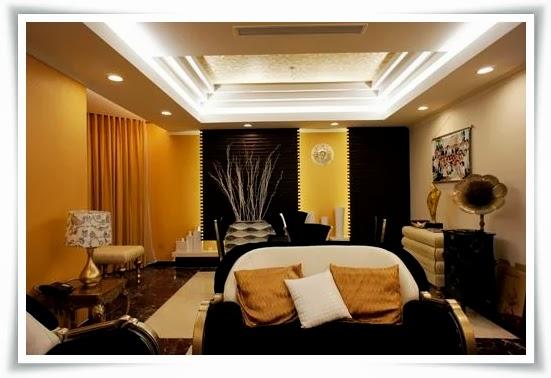Phòng khách Biệt thự cao cấp Saigon Pearl