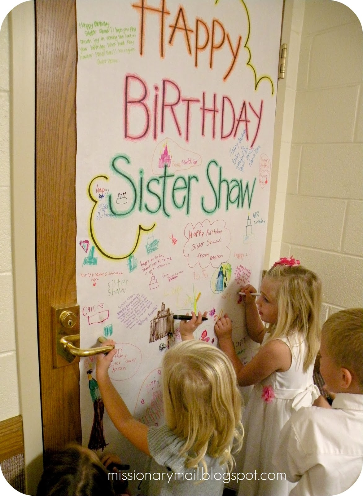 Missionary mail primary happy birthday poster for Idea door primary 2014