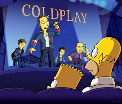 coldplay simpsons