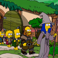 Los Simpsons homenajean El Hobbit
