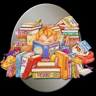 Dibujo por el Día Internacional del Libro Infantil y Juvenil (Niño lleno de libros)