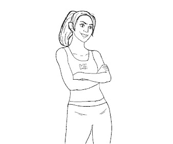 #2 Wii Fit Trainer Coloring Page