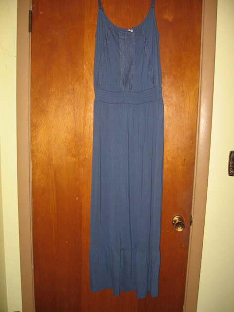 blue maxi dress old navy