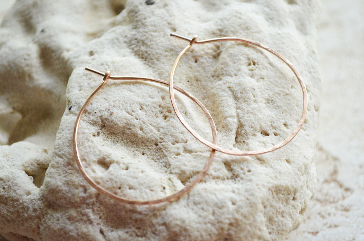 Modern Bohemian Lifestyle How To Make Rose Gold Hoop Earrings
