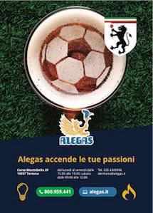 Alegas sponsor della nuova stagione del Derthona Calcio