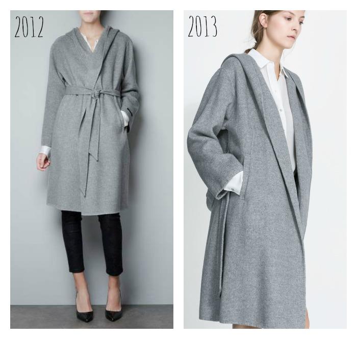 abrigo bata zara