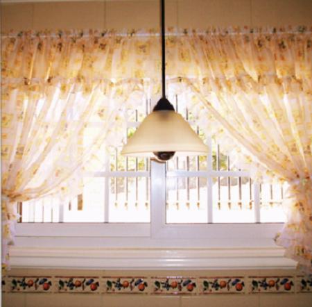 Decora el hogar cortinas para la cocina for Cortinas para el hogar