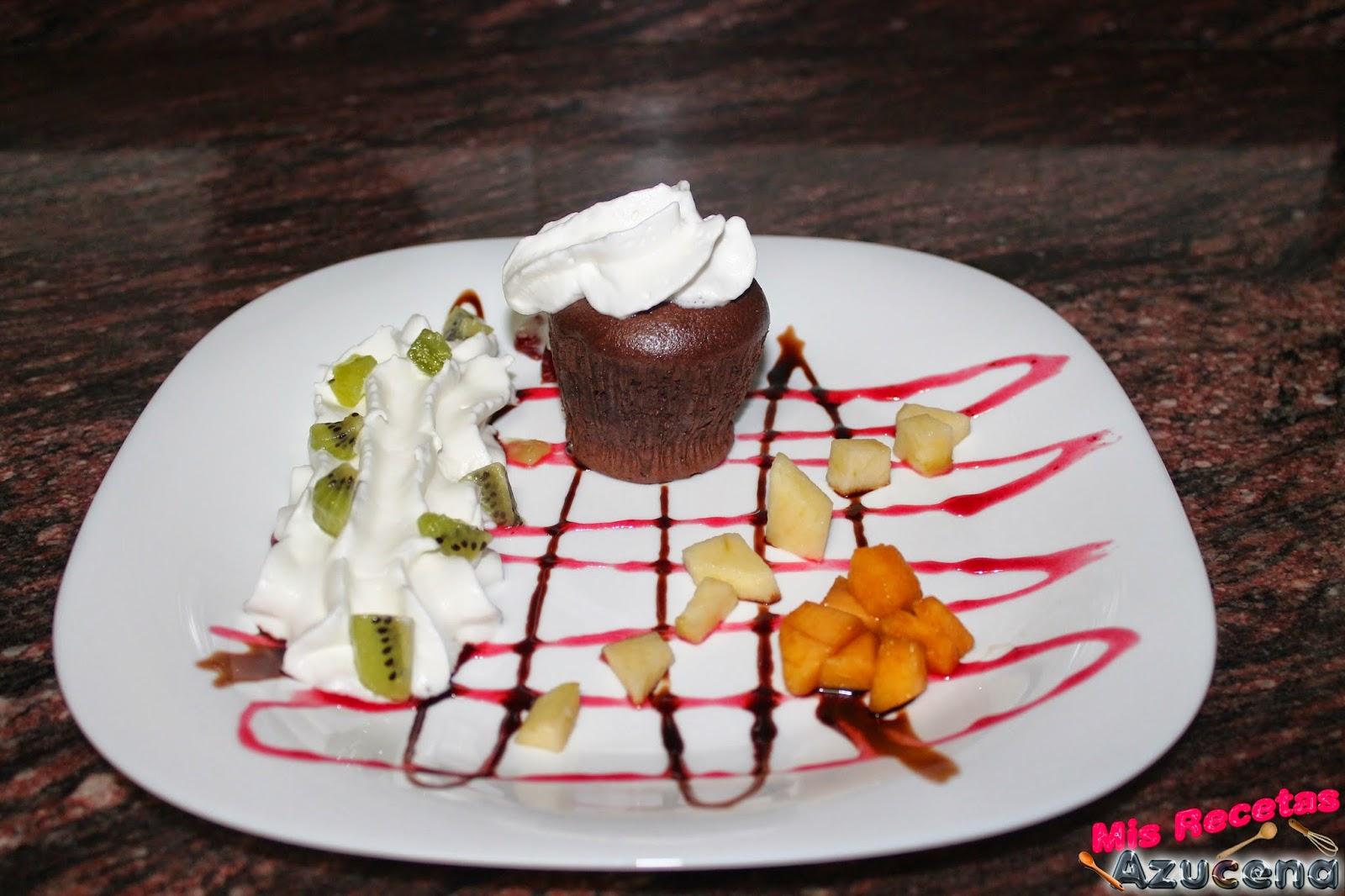 Volcan de chocolate.