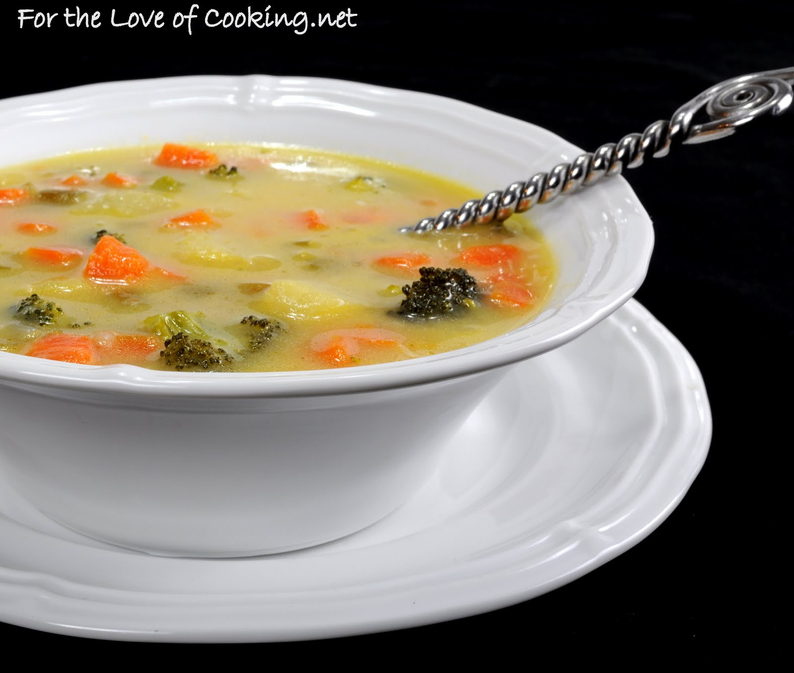 Cheesy Vegetable Chowder | For the Love of Cooking