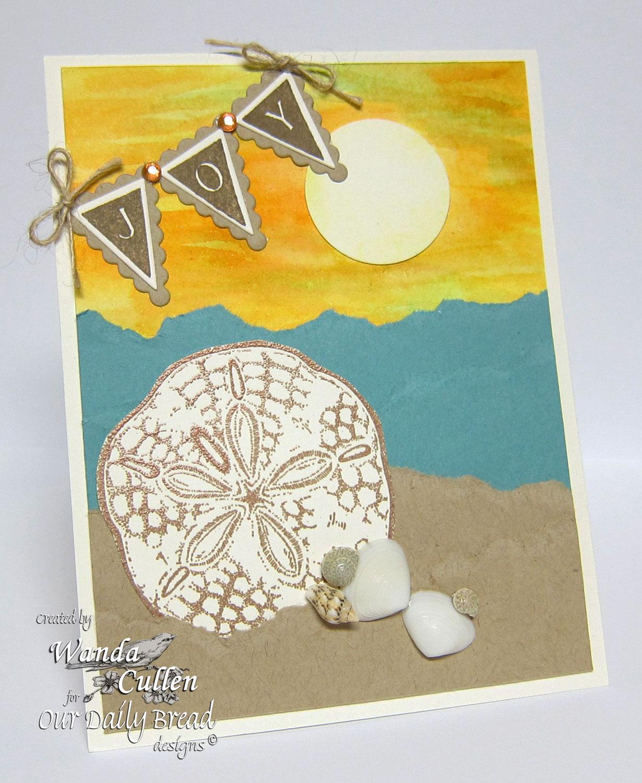 Stamps - Our Daily Bread Designs Ocean Treasures, Pennant Alphabet Solid,  ODBD Custom  Pennants Die