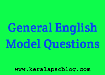 General English Model Questions