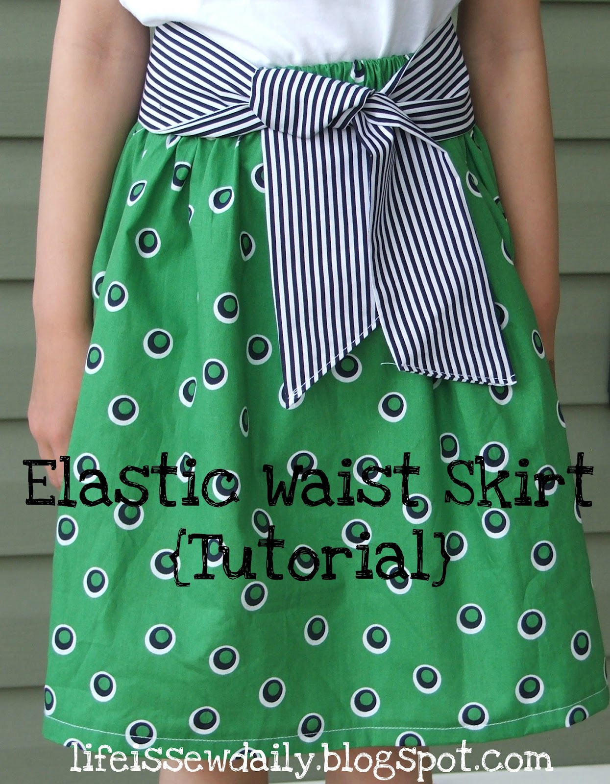 Life is sew daily elastic waist skirt tutorial elastic waist skirt tutorial baditri Gallery