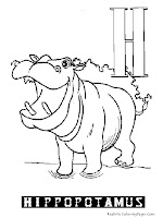 Animal Alphabet H Hippopotamus