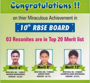 Resonites shines in RBSE Merit -2014