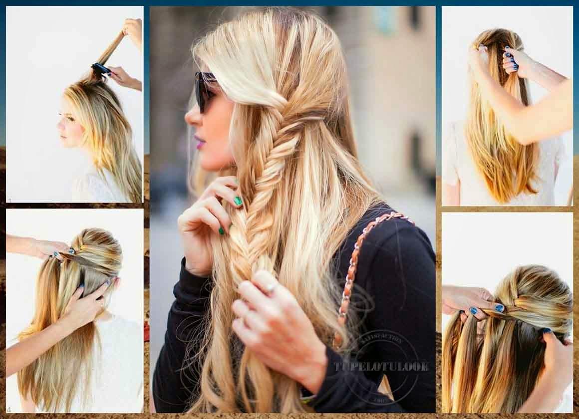 como hacer trenzas espiga peinados 2014