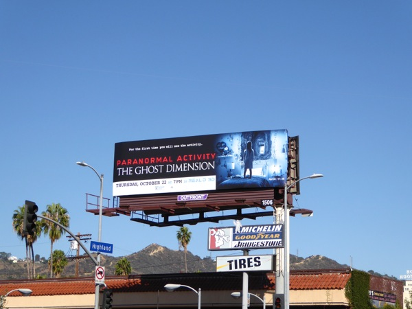 Paranormal Activity Ghost Dimension billboard