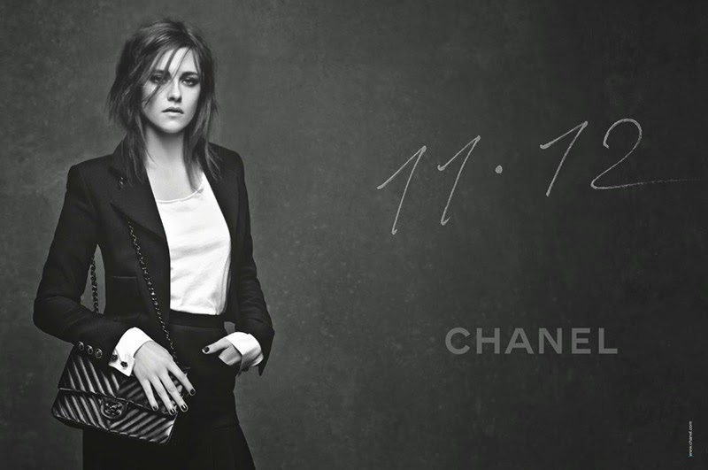 Kristen Stewart poses for the Chanel 11.12 Handbag Campaign 2015