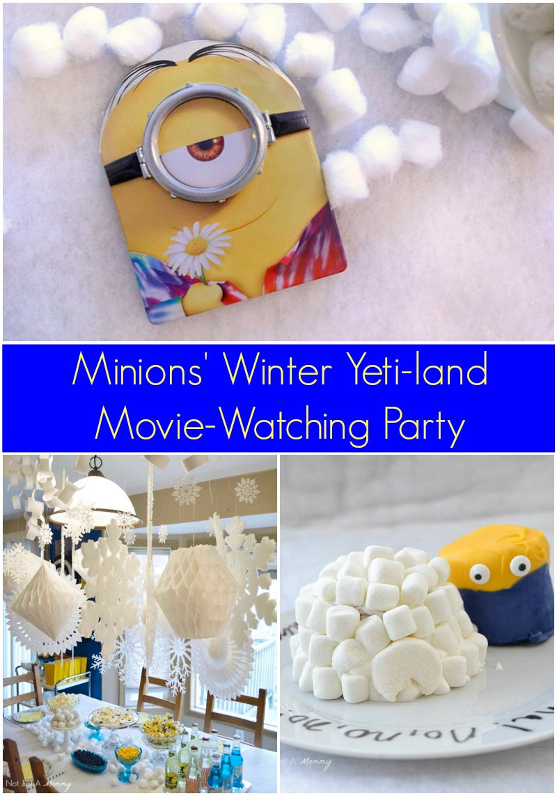 Celebrate the release of Minions on Blu-Ray/DVD with a Winter Yeti-land Movie Watching Party