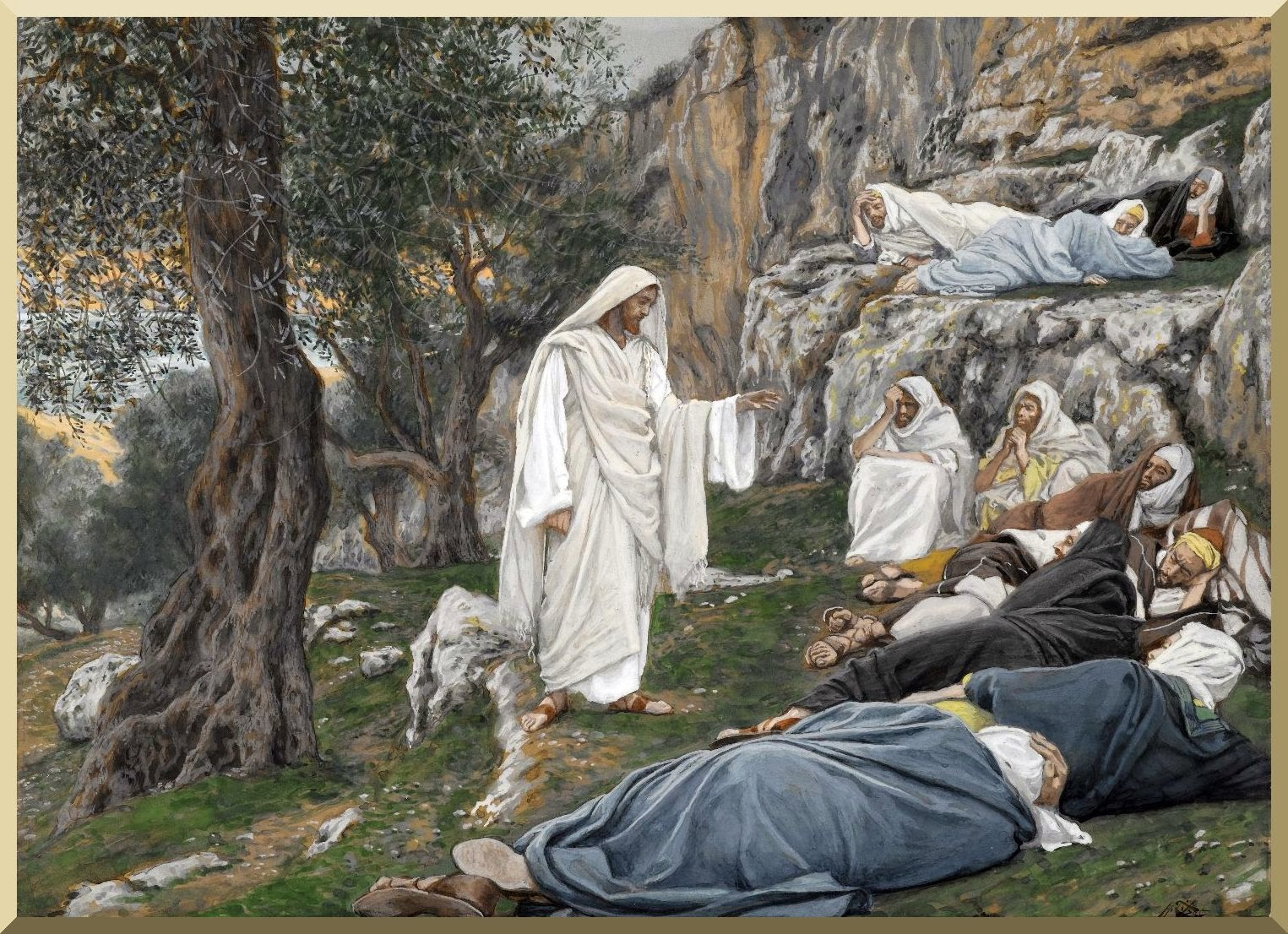 """Jesus Commands the Apostles to Rest "" -- by James Tissot"