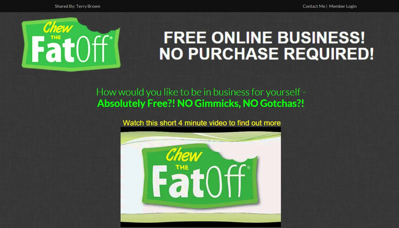 Chew The Fat Off HOME BUSINESS