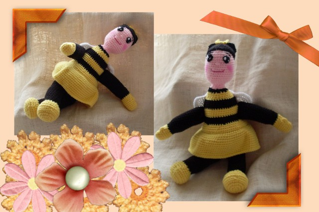 lil miss bea crocheted funmigurumi dolly