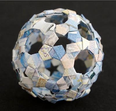 """Сложная фигура-оригами """"Футбольный мяч"""""""
