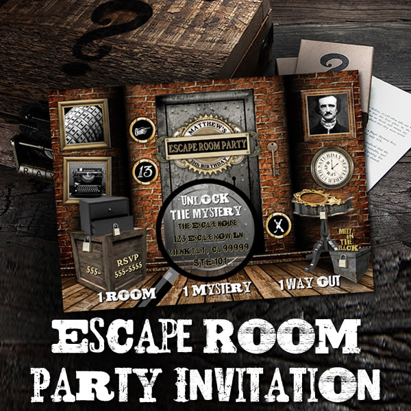 Escape Room Invitation On Sale Now!