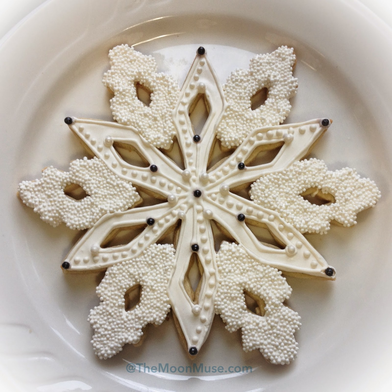 White Snowflake Decorated Sugar Cookie