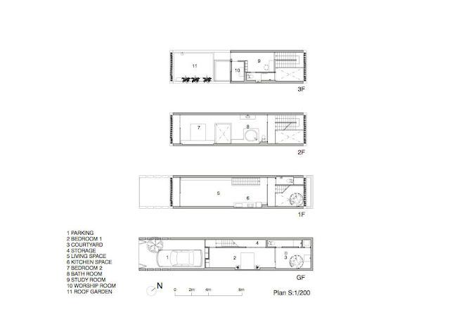 Floor plans of every floor in the green home