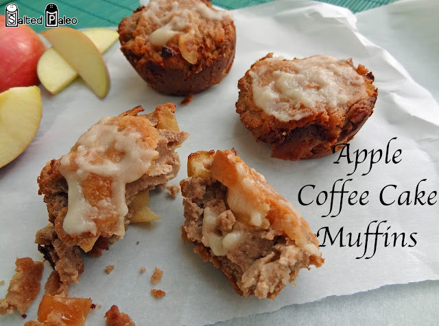 Salted Paleo: Apple Coffee Cake Muffins (paleo, scd)