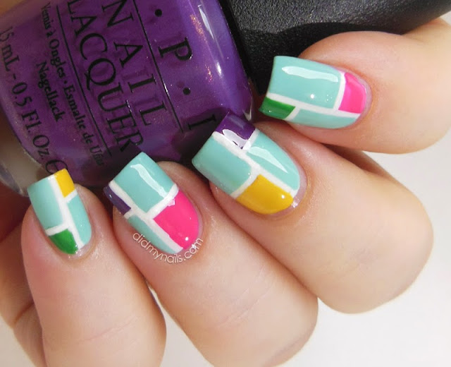 color blocking with striping tape