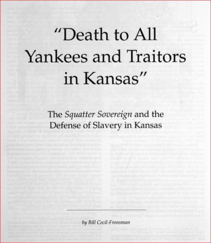 1856 BRAGGING ABOUT KILLING ALL YANKEES AND TRAITORS