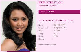 Foto Foto Finalis Miss Indonesia 2012 Nur Fitriyani Bugil dengan terbaru di video bugil