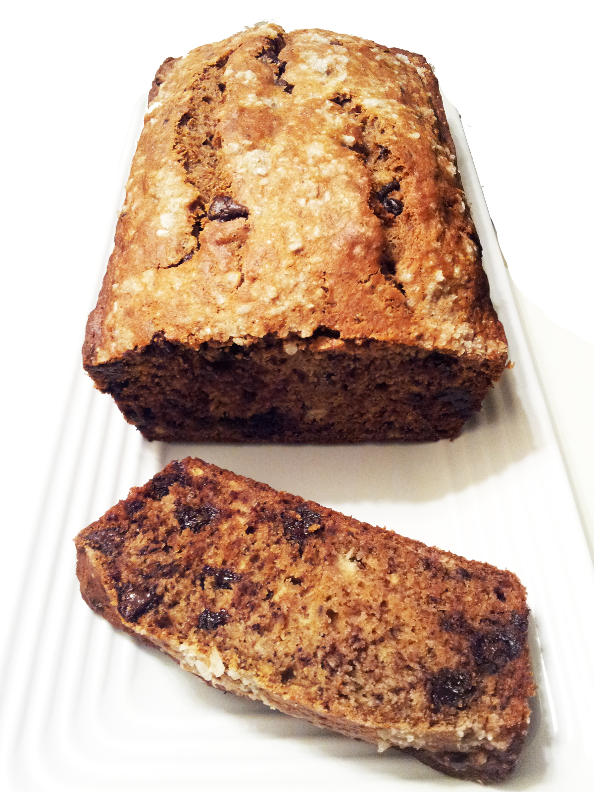 ... Hatred of Meat: Salted Banana Bread with Olive Oil & Dark Chocolate