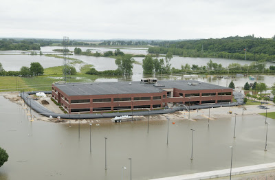 Parts of Nebraska Nuclear Facility Already Under 2 Feet of Water ... But   So Far   Emergency Flood Walls Are Protecting Electrical Equipment    1004 3+Level+Pics+ +Admin+Bldg+Working+on+Westside+Aqua+Dam+crop