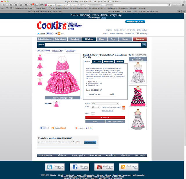 Cute girl's dresses!