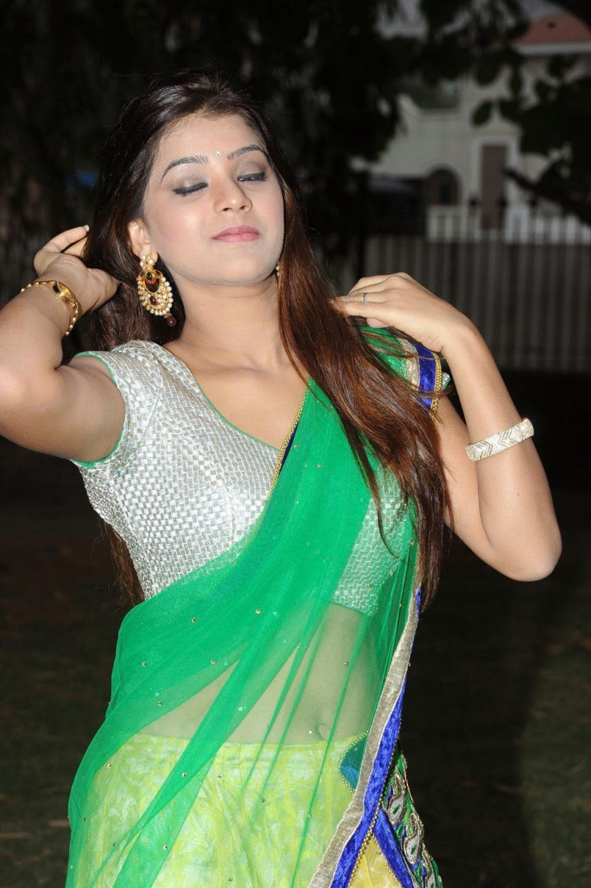 Actress Yamini Bhasker Latest Half Saree Stills