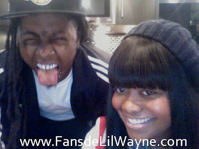 Foto de Lil Wayne y Karen Civil haciendo el idiota, foto graciosa