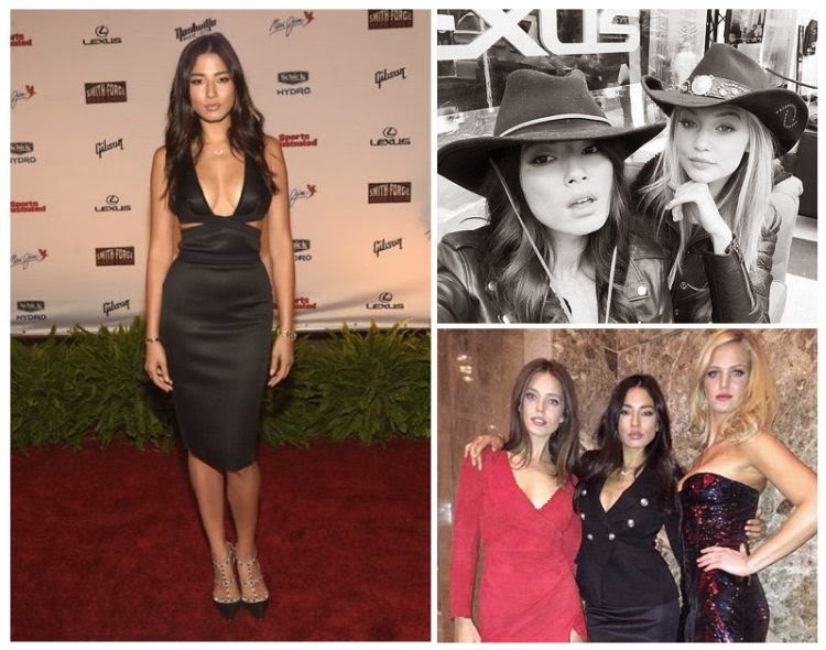 The 29-year-old, Jessica Gomez in a dark dress, was accompanied by Solveig, Hannah Ferguson, and Erin Heatherton, during The Schermerthorn Symphony Center event at Nashville, Tennessee on Wednesday, February 11, 2015.